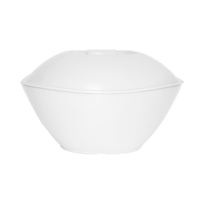 SQUARE ROUND SERVING BOWL (WITH LID)